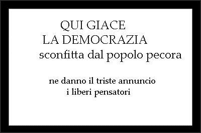 morta la democrazia
