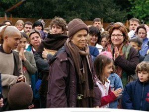Thich Nhat Hanh durante il ritiro di consapevolezza italiano a Roma (2005)