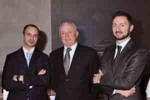 Da sin.  Alberto, Teresio e Alessandro Schiavi.