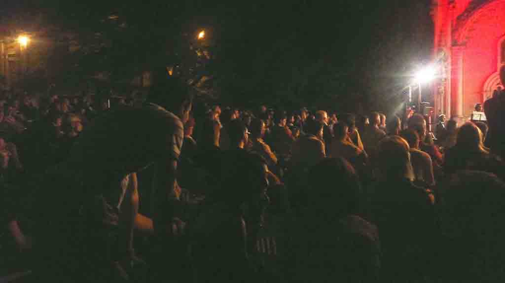 Il pubblico gremito