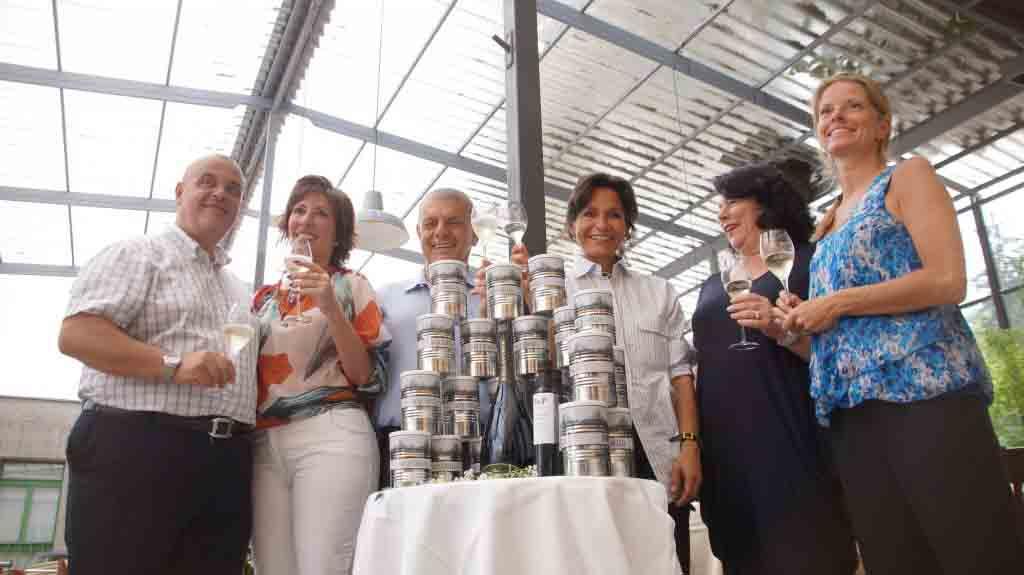 Da sinistra, Alfredo e Loredana Del Gaudio,  Piero e Maria Rondolino, Daniela Massolo e Valentina Farolfi.