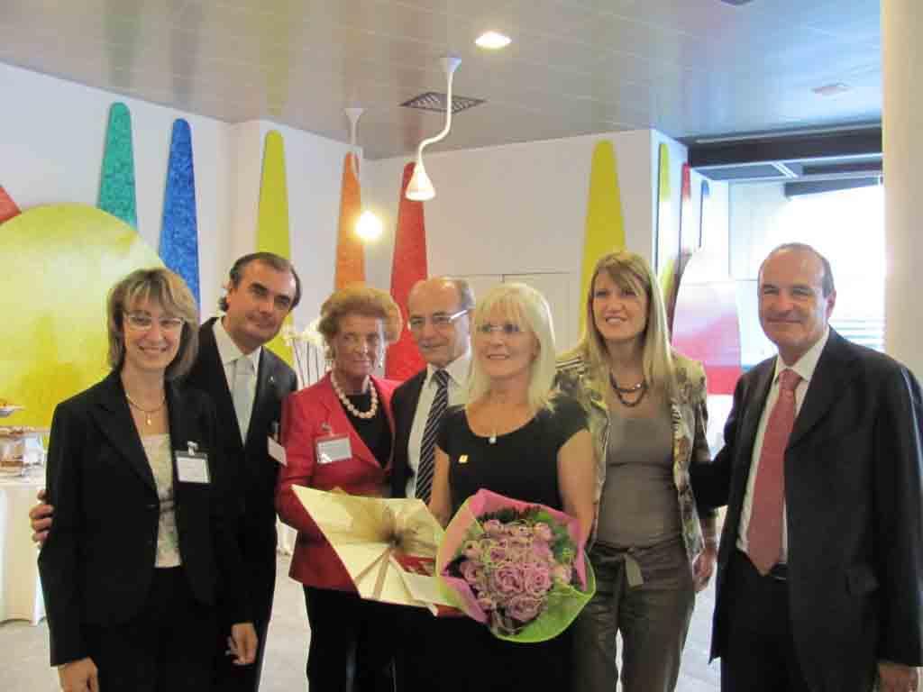 Marta Mondonico premiata come donna del vino per la sua azienda a Castelli Calepio.