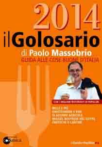 La copertina del Golosario 2014, mille pagine di eccellenze gastronomiche italiane.