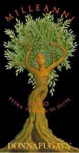 L'artistica etichetta dell'olio Milleanni Donnafugata