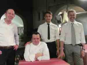 Da sin. Michele, Diego, Filippo e Pierluigi Pavesi.